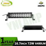 CREE 72W 16,7 polegadas linhas duplas Barra de luz LED para passeios de jipe