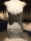 Cordões de cristal Mermaid Suite Bata vestido de noiva Wgf001
