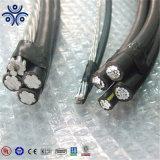 Высокое качество, Линия провод с со стандартом ASTM накладных проводник PE/XLPE изолированный кабель ABC 33кв 11кв через кабель головки блока цилиндров