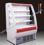 Frigorifero anteriore aperto del frigorifero della visualizzazione commerciale della bibita analcolica