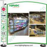 Supermercado Gondola Prateleira de parede de armazenamento