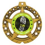 Commerce de gros Prix Argent antique de la marine Médaille Militaire Médaille d'usine Logo trousseau de châssis
