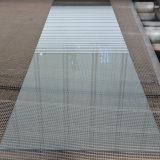 A decoração interior porta de vidro temperado fosco com finas linhas transparentes
