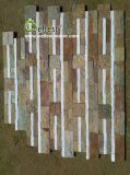 Piedra natural de la repisa de la pizarra del cuarzo del color mezclado para los paneles de pared