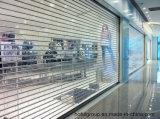 Rolete de policarbonato transparente operada eletricamente Porta Shuters