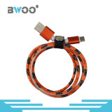 Fast Chargeing Snake Skin Sew Leather Data Câble USB