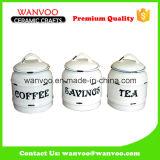 3 tamanhos Ceramic Home Storage Cookie Jar Candy Jar