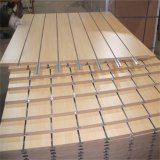 Panel ranurado Slatwall Tablero contrachapado y tableros de fibra de densidad media