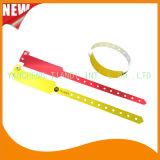 Pulsera disponible por encargo de los Wristbands de la identificación del plástico de la hospitalidad profesional (E8020-21)