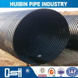 HDPE Abflussrohr-doppel-wandiges gewölbtes Rohr