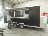 Tranda no carro móvel do alimento da venda, caminhão elétrico do fast food