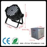 РАВЕНСТВО мытья 54X3w PCS RGBW может PAR свет
