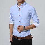 Overhemden Mens Van uitstekende kwaliteit van de Mensen van de Koker van het Overhemd van de Mensen van de manier de Toevallige Lange Slanke Geschikte