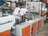 Automatische vier Zeile Plastikshirt-Heißsiegelfähigkeit und kalter Ausschnitt-Beutel, der Maschine herstellt