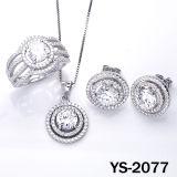 La joyería del diamante 925 platean el sistema micro de la pavimentación CZ de la configuración.