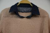 Denim-Muffen-Kamm-Muschel geerntete Strickjacke-zierliche Kleidung