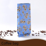 Flat Bottom Gusset Stand up Matte Bolsa de café em alumínio laminado com Zip Lock / Plastic Packing Bag com Ziplock (ML-E21)