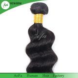 最上質の自然な波のブラジルの毛のバージンのRemyの人間の毛髪