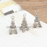 Het juwelen Beslagen Bergkristal van de Componenten van de Toebehoren van de Tegenhanger van de Toren van Eiffel van het Sleutelbeen van de Diamant