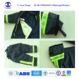 Traje de fuego uniforme con guantes botas cascos/// la correa de la extinción de incendios