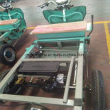 Motocicleta híbrida de la rueda 110cc tres de la refrigeración por agua del triciclo del cargo