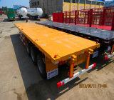 容器20FT/40FTの平面のトラックのトレーラー