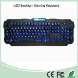 По-испански схема красный/фиолетовый/голубой подсветкой LED Pro игровые клавиатуры (КБ-1901EL)