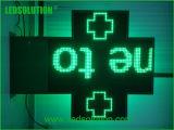 Signes extérieurs polychromes de croix de pharmacie de DEL