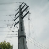 Linha de transmissão distribuição da potência de potência elétrica Pólo de Pólo