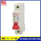 Muestra gratuita para probar la energía solar fotovoltaica System DC AC MCB Dz47-63 1-6A 10-32un 40-632p, los disyuntores miniatura MCB