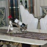 ホーム大理石の独創性のステンレス鋼のダイニングテーブル