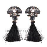 Regalo dei monili degli accessori reso personale orecchino all'ingrosso della nappa del Rhinestone della lega di modo