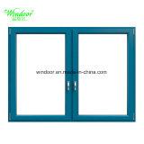 Disegno termico della finestra del ferro della finestra del metallo della finestra della lega di alluminio della rottura di rivestimento di stuoia