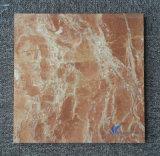 磨かれた自然なオレンジ赤の床タイル