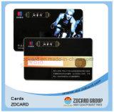 La impresión Offset Cr80 PVC plástico de tamaño tarjeta de visita