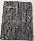 Ql-036 de bewolkte Grijze Steen van de Cultuur van het Kwartsiet voor Muur Sladding/het Opruimen