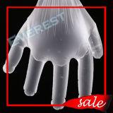 安いプラスチックか多かポリエチレンの明確なか透過使い捨て可能なポリエチレンの手袋