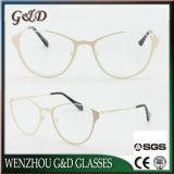 Het nieuwe Optische Frame van het Oogglas van Eyewear van de Glazen van het Metaal van het Ontwerp voor de Dubbele Kleur van de Dame en van Vrouwen