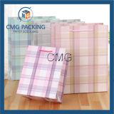 사랑스러운 백색 카드 종이 봉지 선물 포장 (DM-GPBB-071)