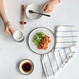 흑백 감소 프레임 저녁식사 세트 식기류