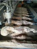 Las piernas/escalera cercan 8 la máquina de grabado con barandilla de madera rotatoria del CNC de los ejes de rotación 4D