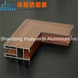Porte et guichet composés en bois en aluminium