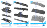 伝達ステンレス鋼の倍ピッチのローラーの鎖、DIN8187、カスタマイズされるDIN8188
