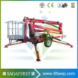14m 16m Mobile Hydraulic Towable Trailed Articulated Man Lift