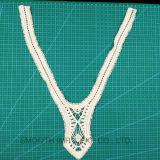 Оптовое тканье ткани ворота шнурка вышивки ожерелья вязания крючком хлопка способа