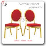 Chaises en aluminium d'or rondes de Hall de banquet d'usine (BC-06)