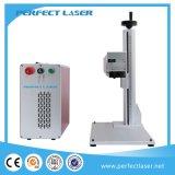 Codificar a máquina da marcação do laser da fibra do metal dos números de tâmara do logotipo