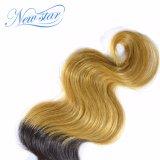 Волосы верхней объемной волны волос девственницы Ombre ранга бразильской белокурые