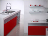 N & L Red Cor Island Design Cabinet Store Meubles de cuisine