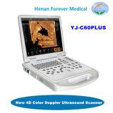 Низкая цена ноутбука полностью цифровая ветеринарных 4D ультразвукового сканера с CW Mode (YJ-C60plus)